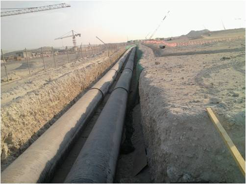 Doha Water Treatment, Pipeline installation, Flushing Services